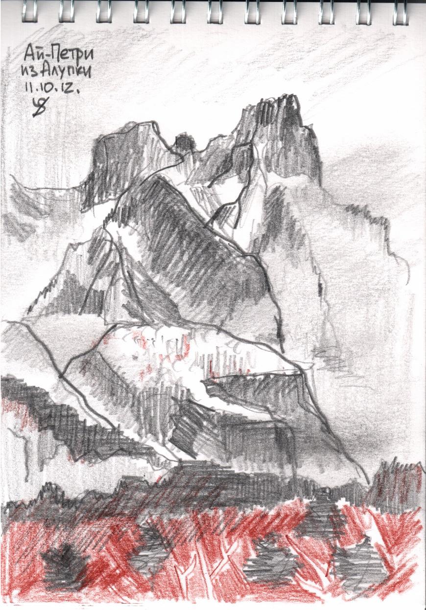 рисунки карандашом пейзажи:
