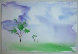Сюжет акварель абстракция облако